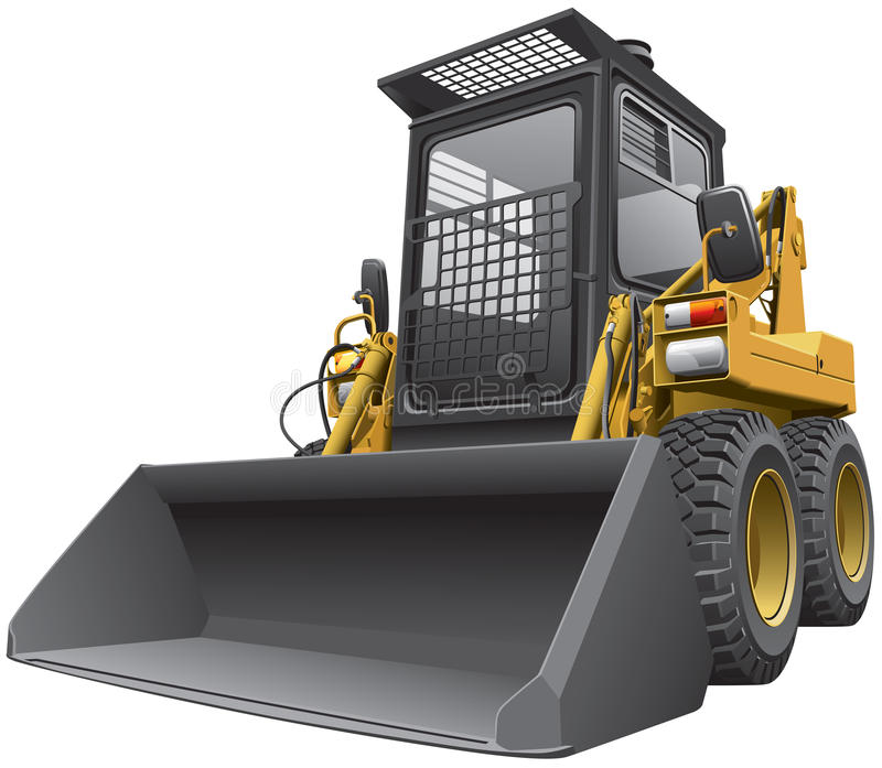 Download Light-brown Skid Steer Loader Stock Vector - Image: 28526603