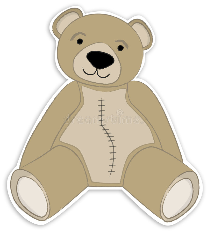 Light Brown Teddy Bear. Pleasant illustration of light brown teddy bear in sitting position vector illustration