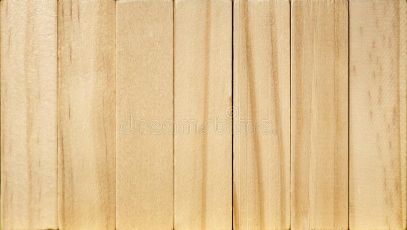 Light brown vertical boards, wood planks wall, wooden background stock image