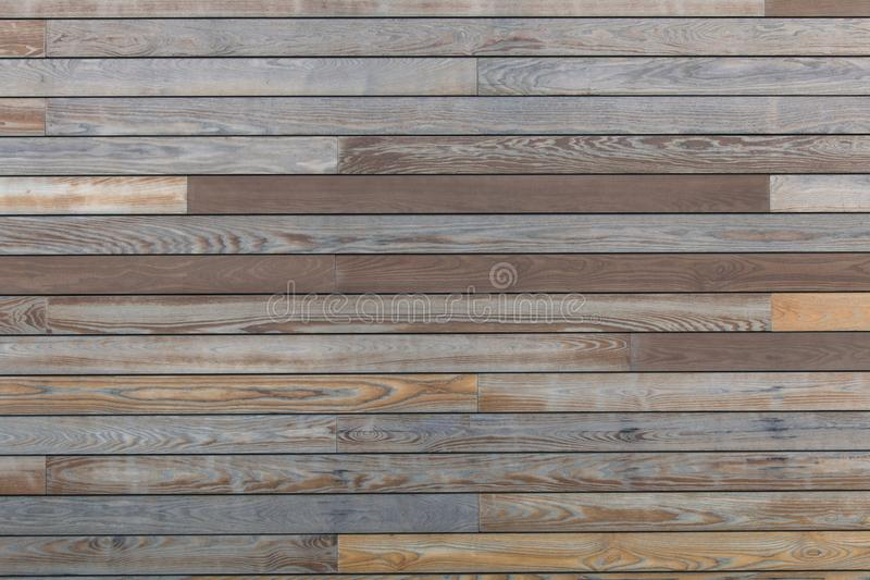 Close up soft wood table floor with natural pattern texture. Empty template wood board can be used as background for royalty free stock photos