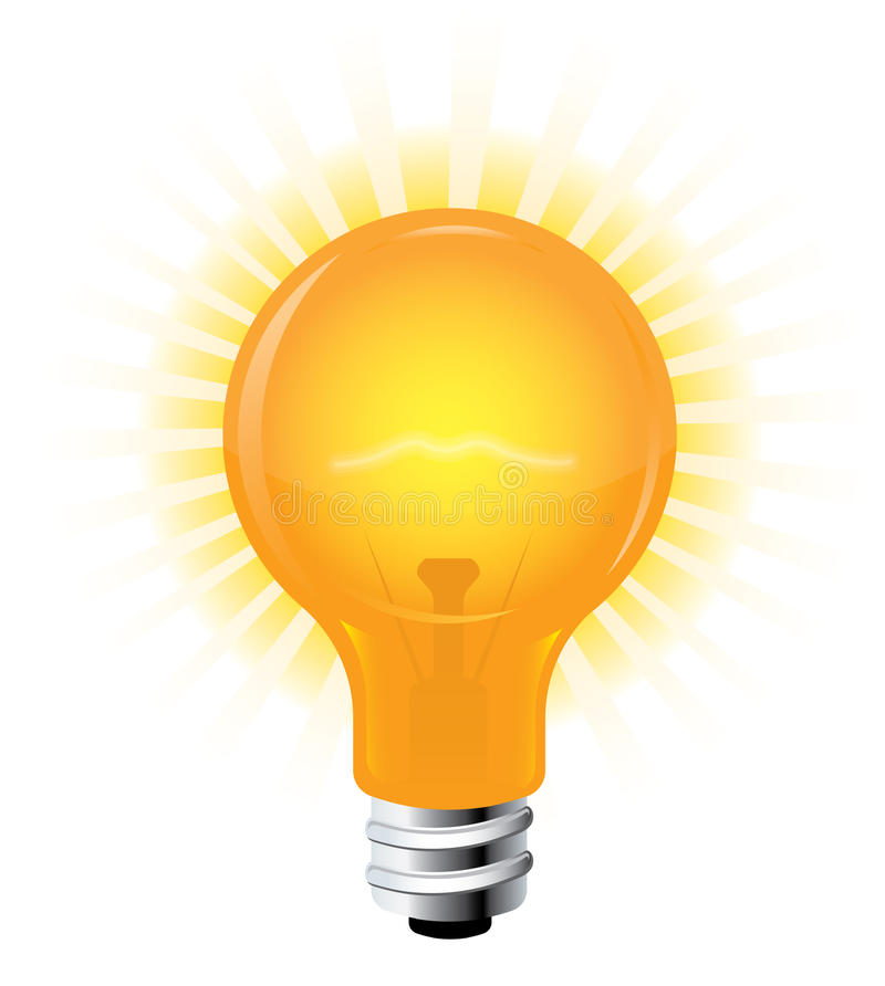 Download Light Bulb stock vector. Image of background, power, technology - 13890391