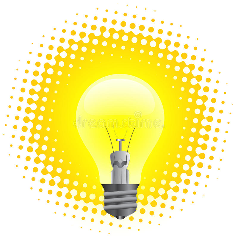 Download Light bulb stock vector. Image of power, bulb, electric - 14852919