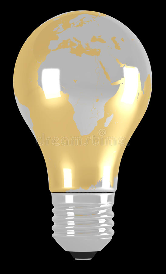 Download Light bulb stock illustration. Image of global, electricity - 14853510