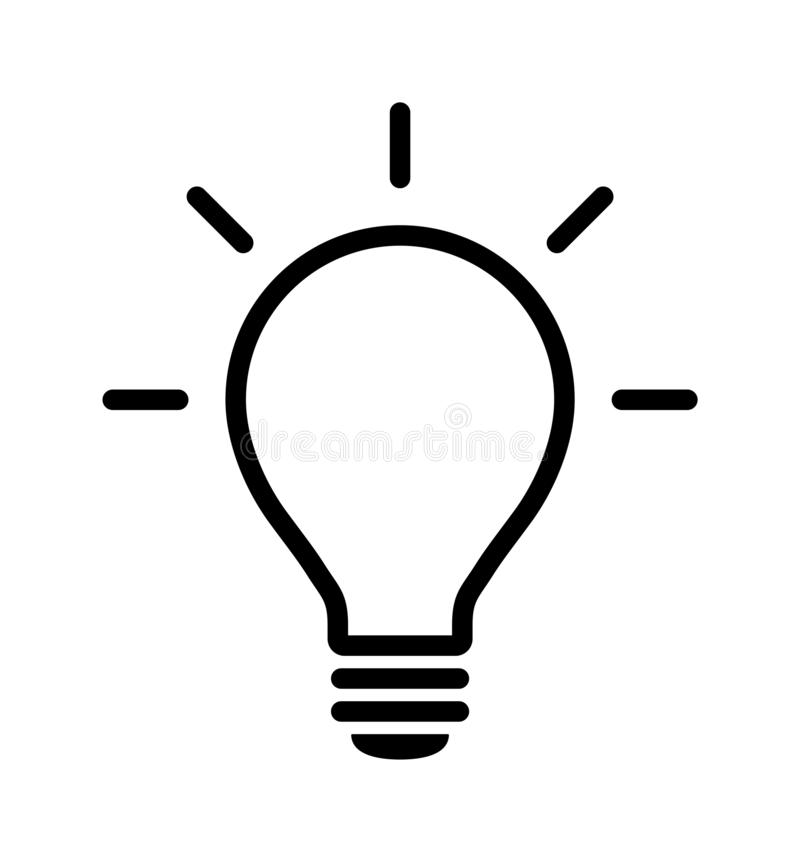Light bulb icon royalty free illustration