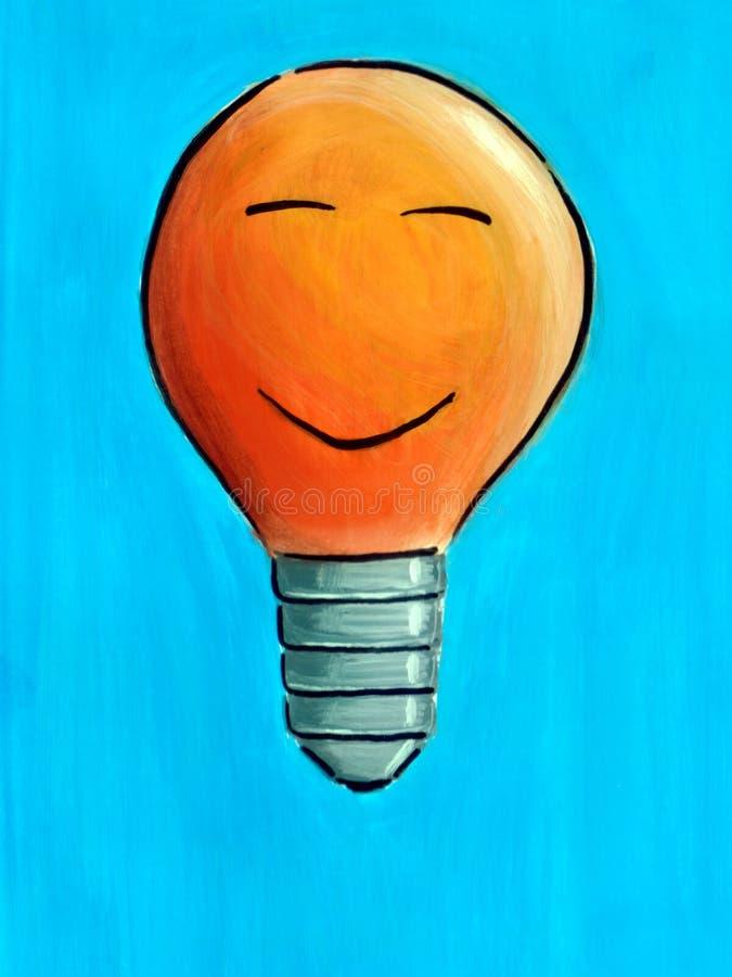 Download Light bulb stock illustration. Image of light, smiling - 186918