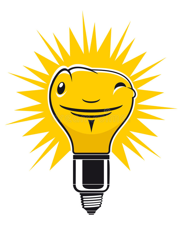 Download Light bulb stock vector. Image of icon, mascot, bright - 19358638