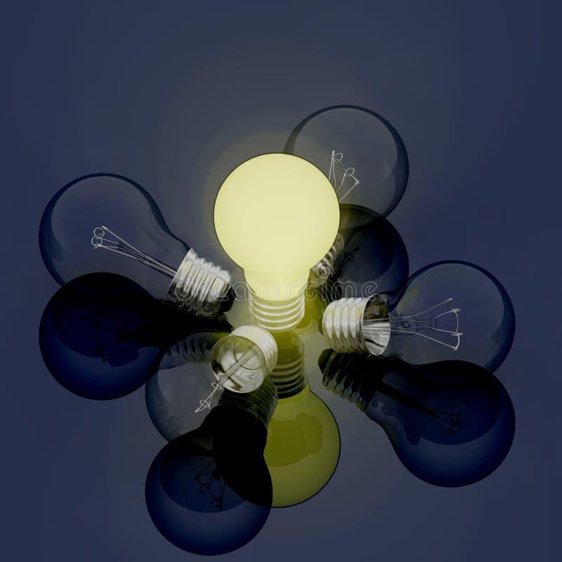Download Light bulb stock illustration. Image of bulb, intelligence - 19362435