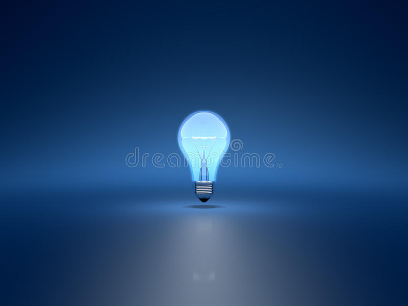 Download Light bulb stock illustration. Image of blue, electric - 21251357