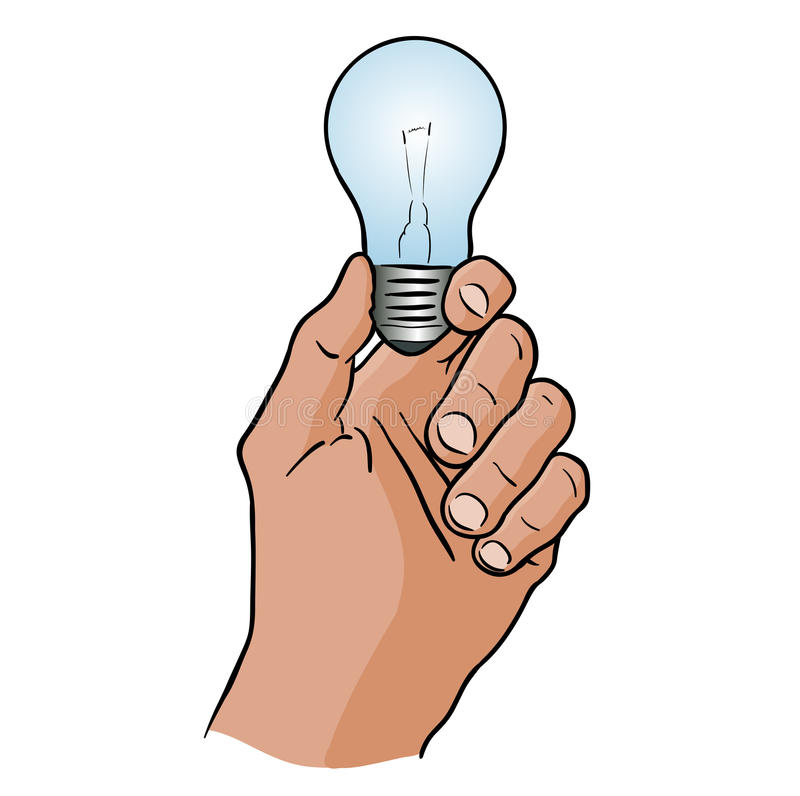 Download Light bulb stock vector. Image of blue, hold, shape, drawing - 21508360