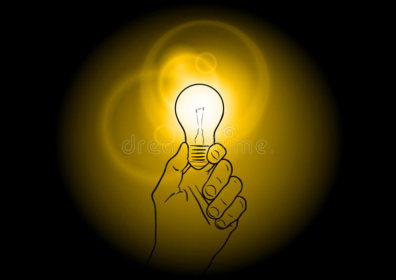 Download Light bulb stock vector. Image of bulb, electric, black - 21609160