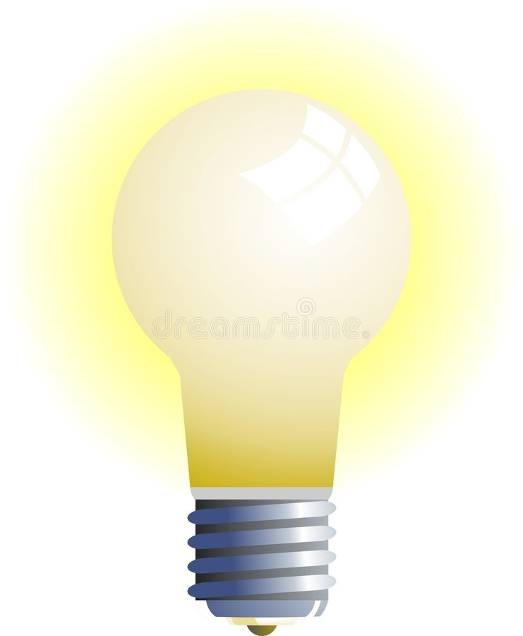 Download Light Bulb stock illustration. Illustration of lights, wattage - 33168