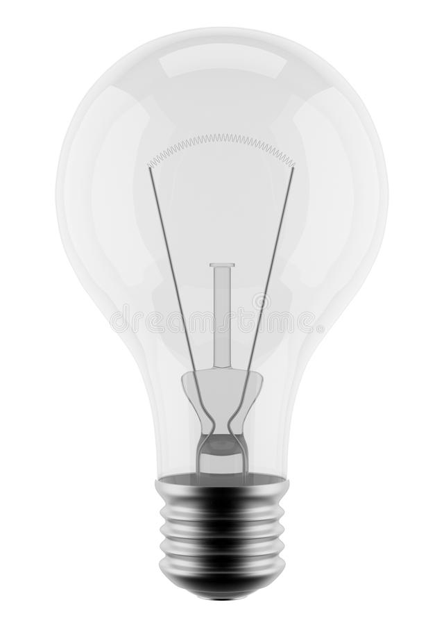 Free Light Bulb 3d. Isolated On White Background Royalty Free Stock Images - 19979949