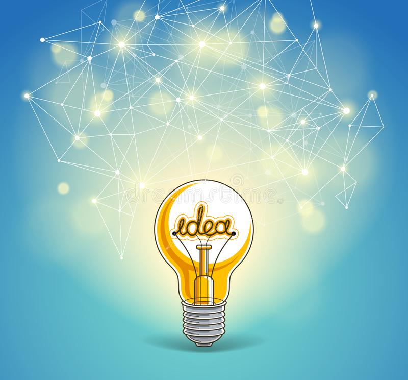 Free Light Bulb And Connection Lines Low Poly Design, Innovative Idea Concept, Modern Or Future Technology. Stock Image - 153122851
