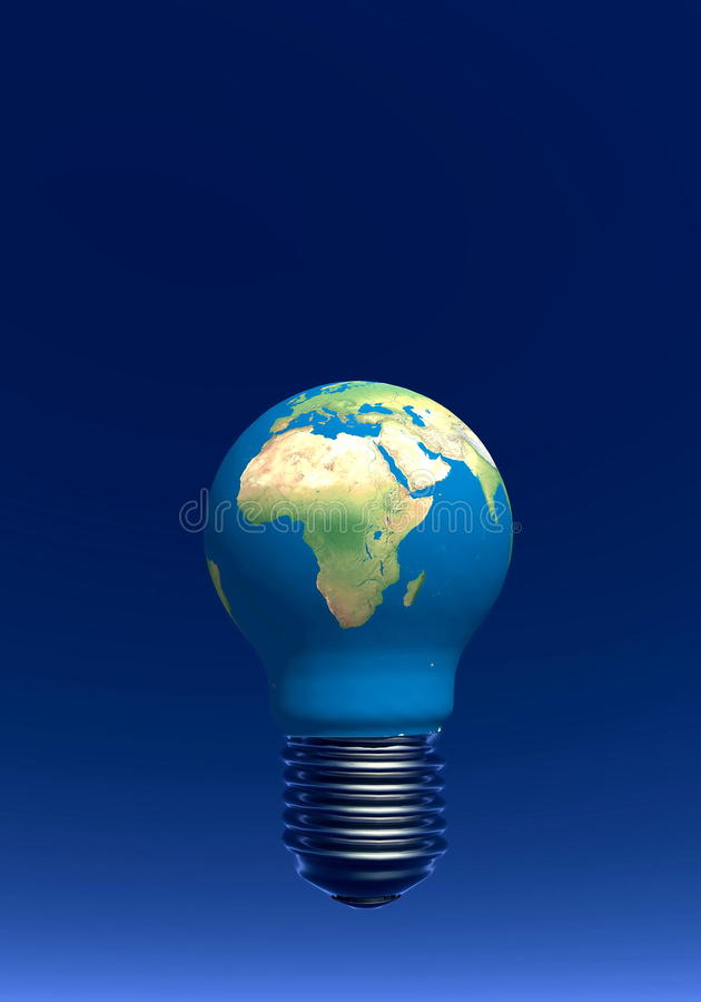 Download Light Bulb As Earth - 3D Render Stock Illustration - Image: 30534777