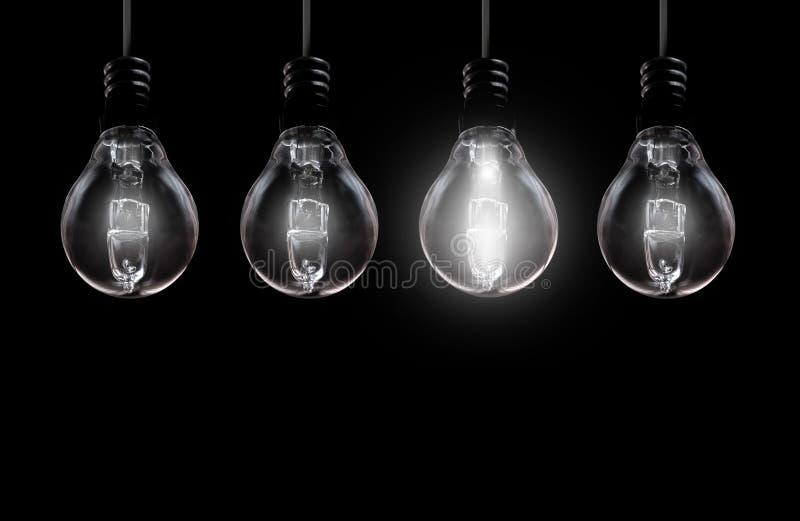 Light bulb background stock photos