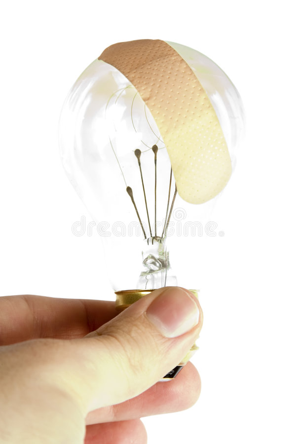 Light Bulb Bandage royalty free stock image