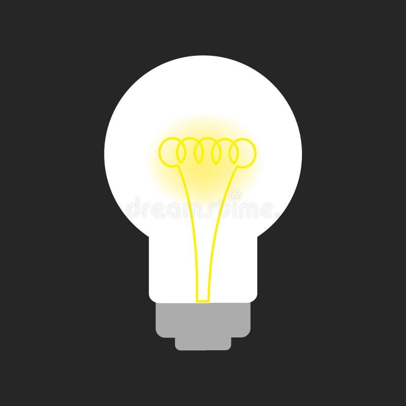 Light bulb on black royalty free illustration