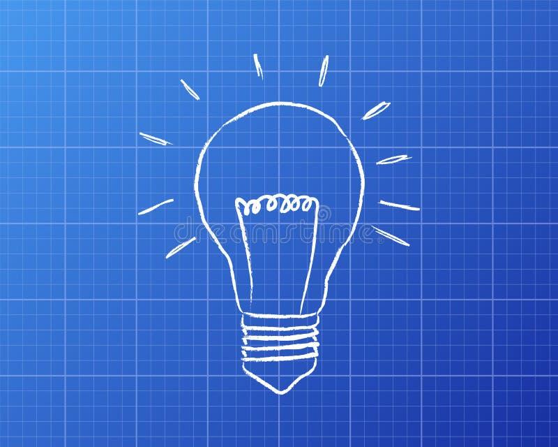 Light bulb blueprint stock vector illustration of light 87344797 download light bulb blueprint stock vector illustration of light 87344797 malvernweather Choice Image