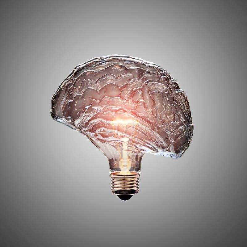 Light Bulb Brain royalty free illustration