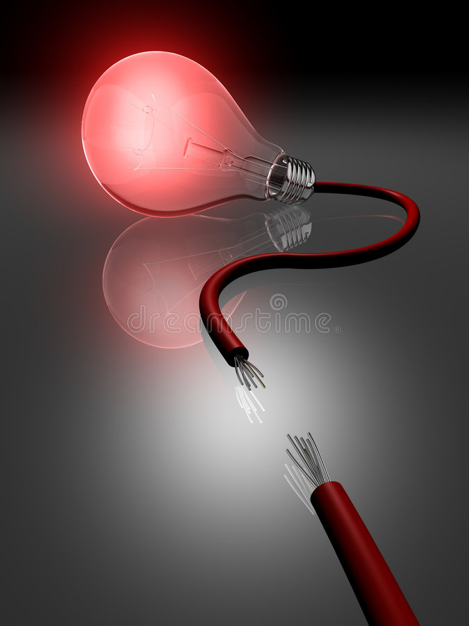 Download Light Bulb With Broken Cable Stock Illustration - Illustration: 5011601