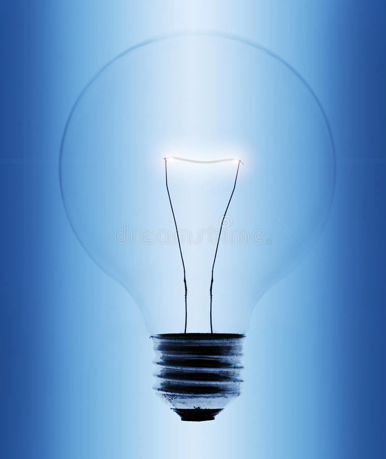 Download Light bulb close-up stock photo. Image of electric, clip - 18432662