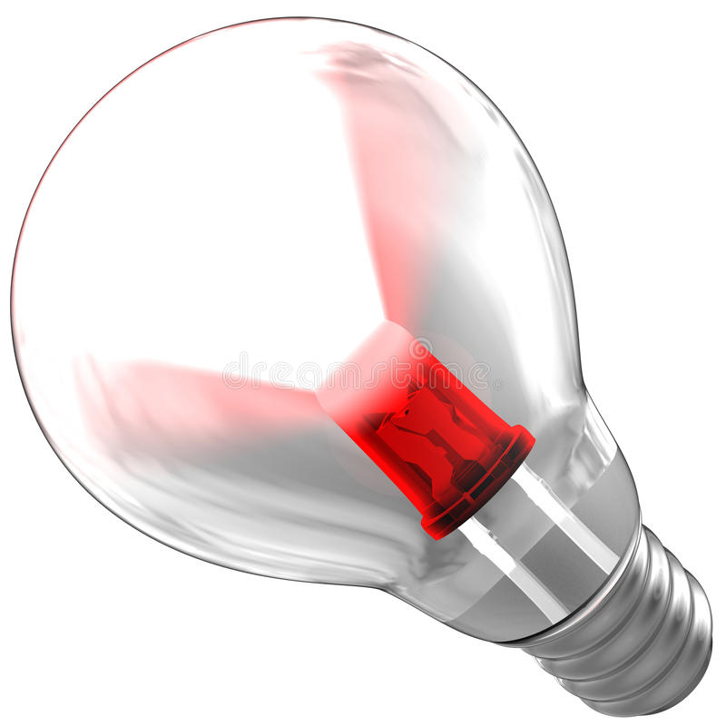 Download Light Bulb Composed Be A Red LED Stock Illustration - Image: 15795983