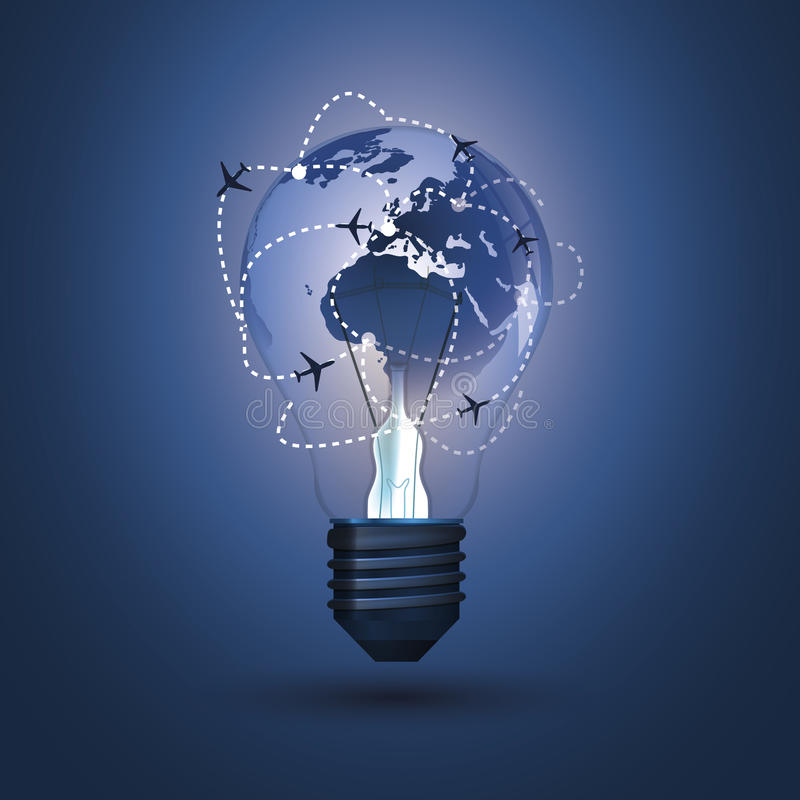 Light Bulb Concept vector illustration