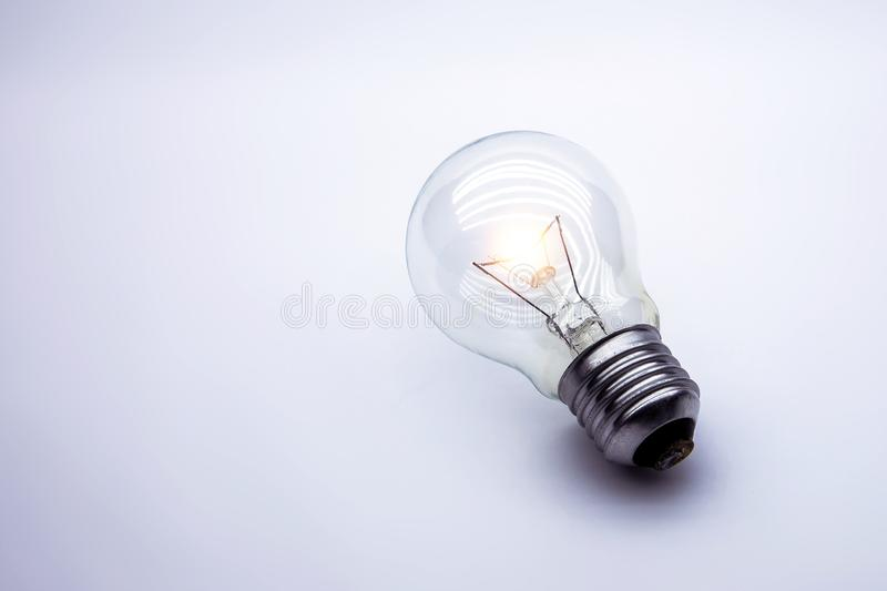 Light bulb Concept for creative idea and startup concepts. stock photo