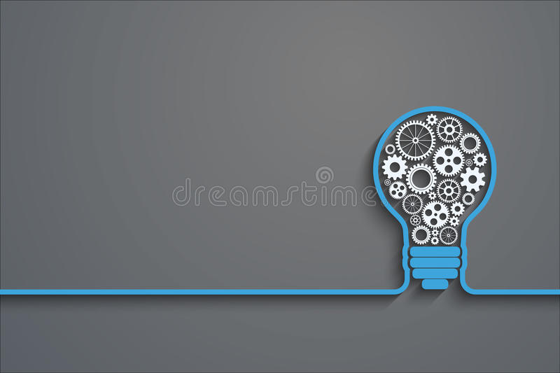 Light bulb concept stock illustration