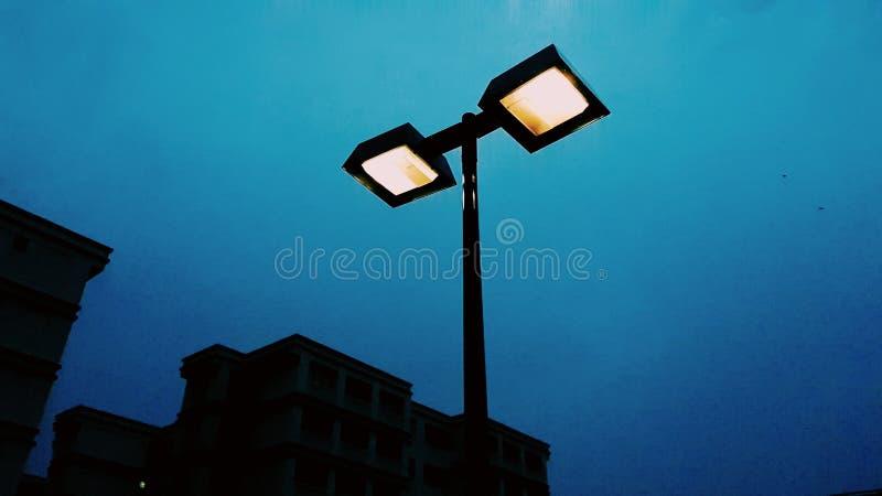 2 light bulb in deep blue stock photo