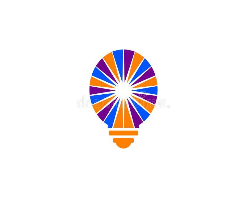 Light bulb design logo template. Light bulb logo royalty free illustration