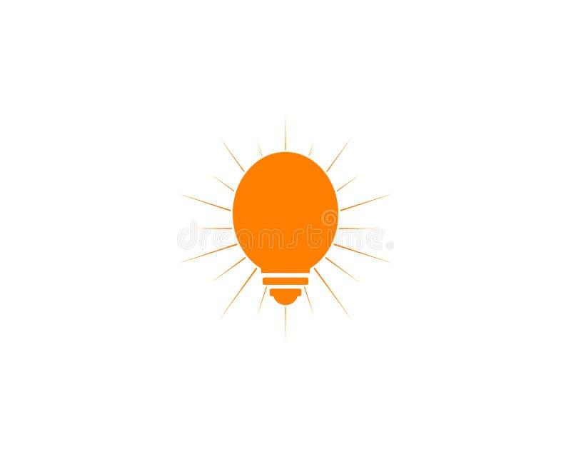 Light bulb design logo template. Light bulb logo stock illustration