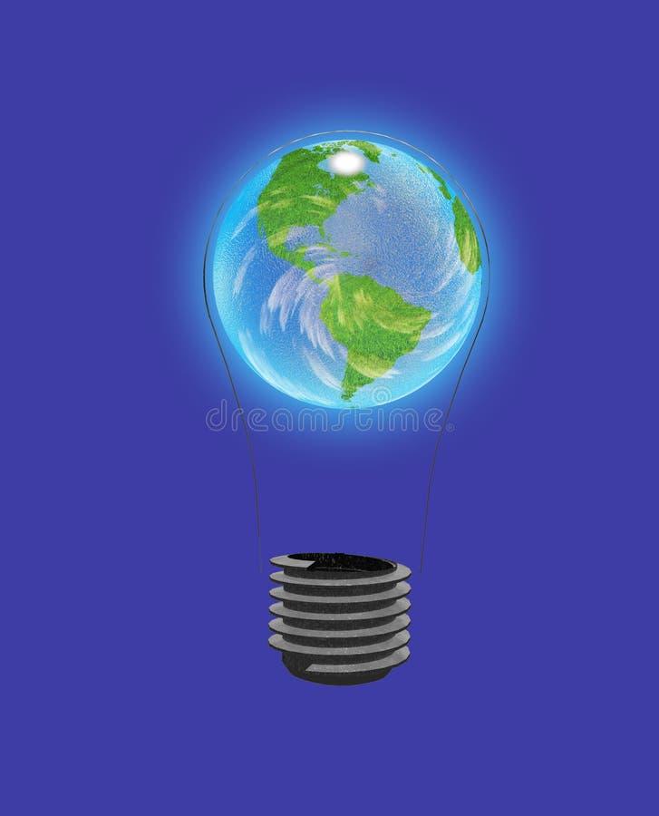 Download Light Bulb Earth stock illustration. Image of ecological - 12158681