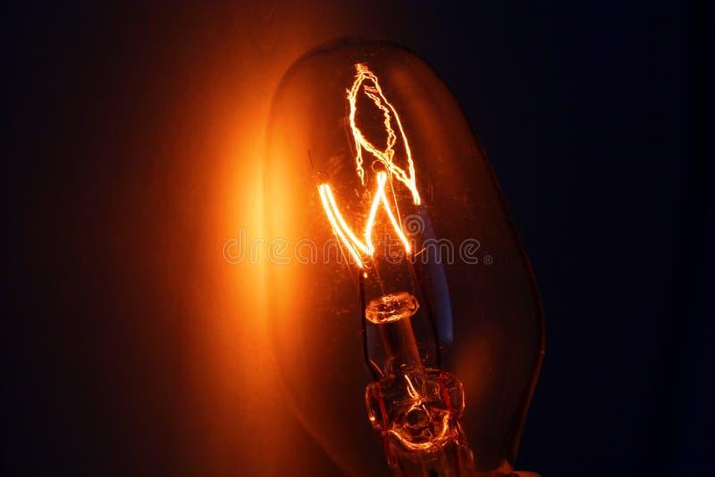 Light bulb on fire stock photos