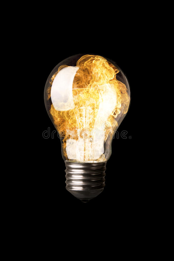 Download Light Bulb with Flames stock image. Image of bulb, explosion - 10023869