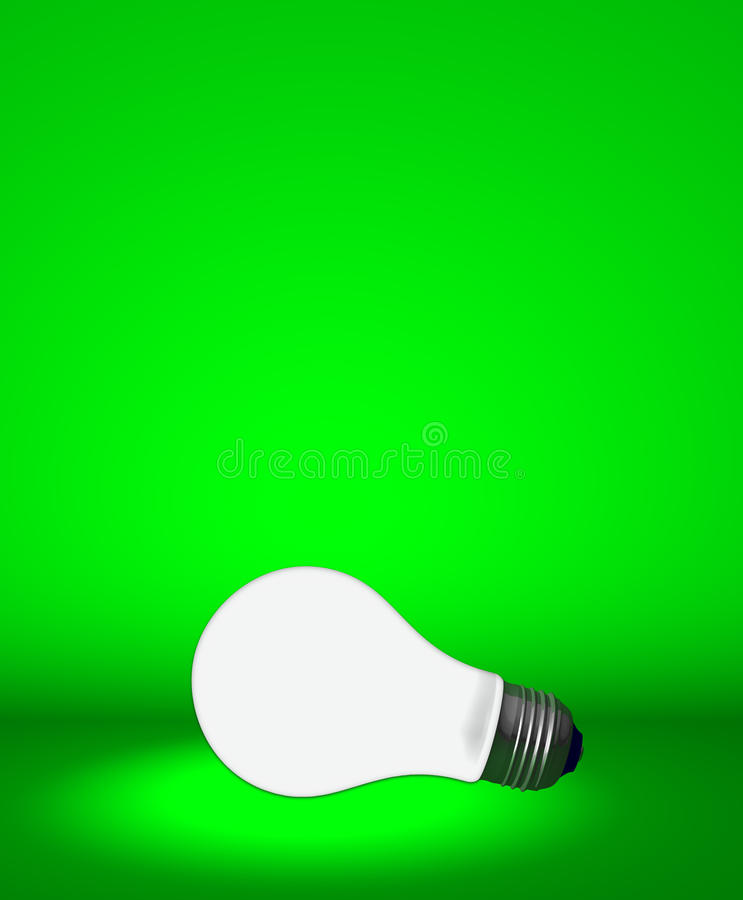 Download Light Bulb On Green Royalty Free Stock Image - Image: 10477876