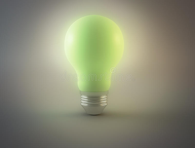 Light bulb green royalty free stock images