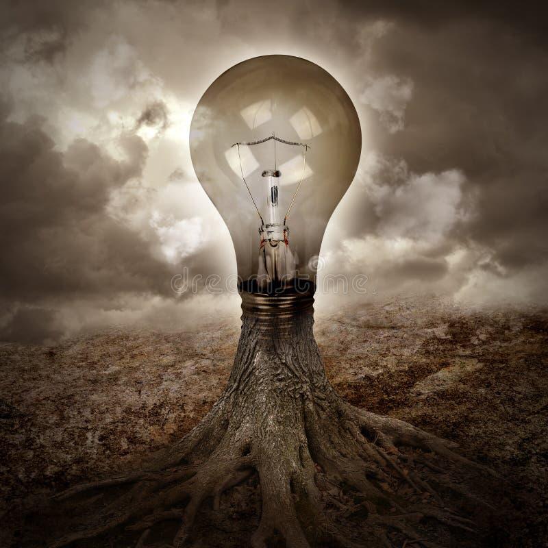 Free Light Bulb Growing An Idea In Nature Stock Photos - 29798063