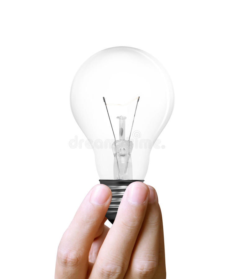 Download Light bulb in hand stock image. Image of power, lamp - 24500995