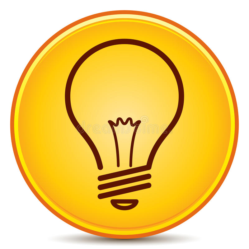 Download Light Bulb Icon stock vector. Illustration of isolated - 25630757