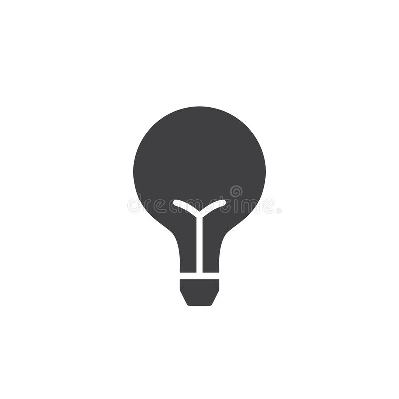 Light bulb icon vector stock illustration