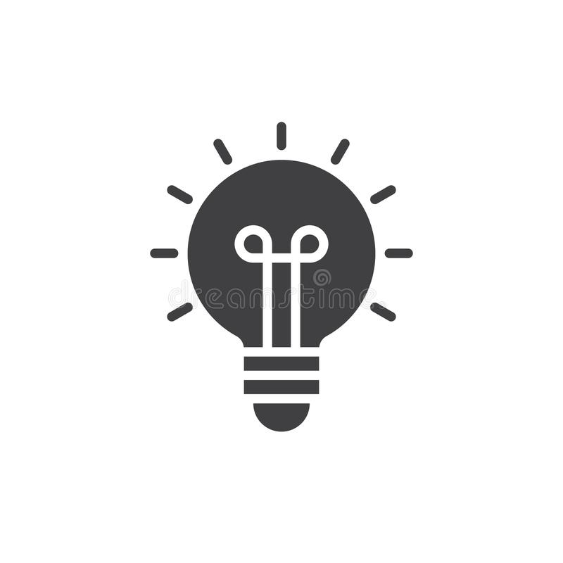 Light bulb icon vector vector illustration