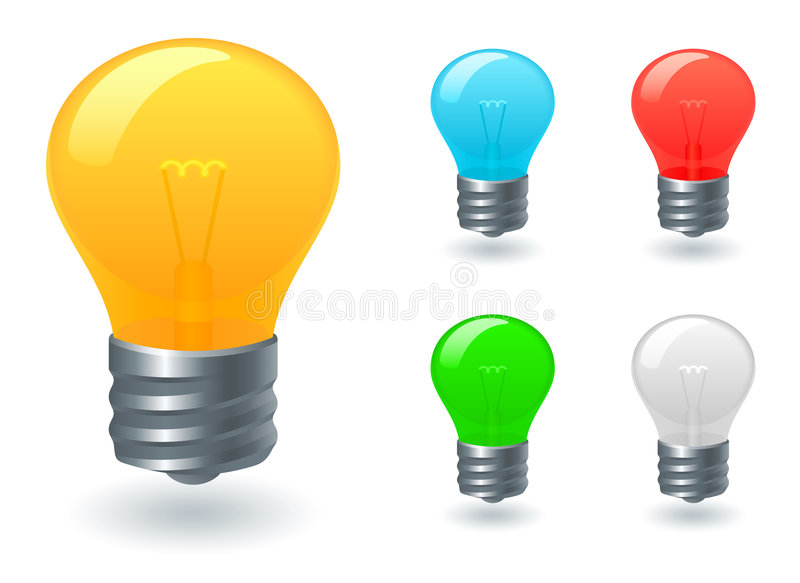 Download Light bulb icons stock vector. Illustration of symbols - 6219586