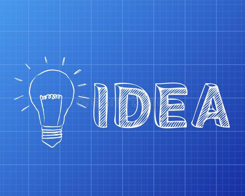 Light bulb idea blueprint stock vector illustration of blueprint download light bulb idea blueprint stock vector illustration of blueprint 88888798 malvernweather Choice Image