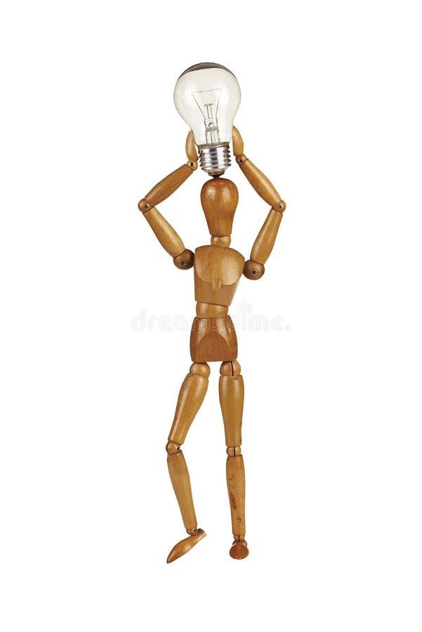 Light bulb idea concept with dummy stock photos