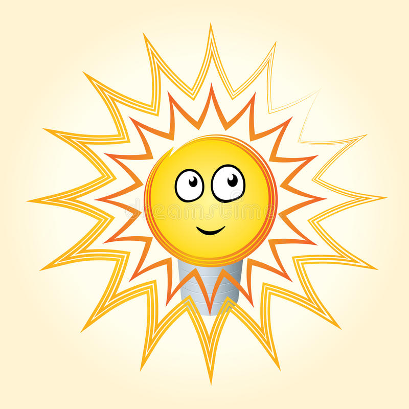 Download Light Bulb Idea Concept. Smiling Lamp. Stock Vector - Illustration: 28929526