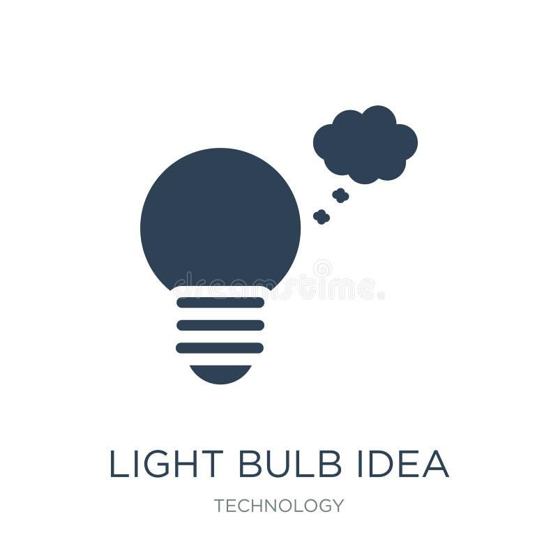 light bulb idea icon in trendy design style. light bulb idea icon isolated on white background. light bulb idea vector icon simple vector illustration
