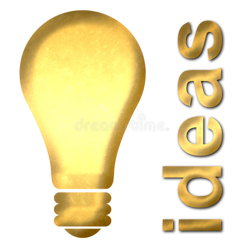 Download Light Bulb Ideas Text Stock Illustration - Image: 39138807