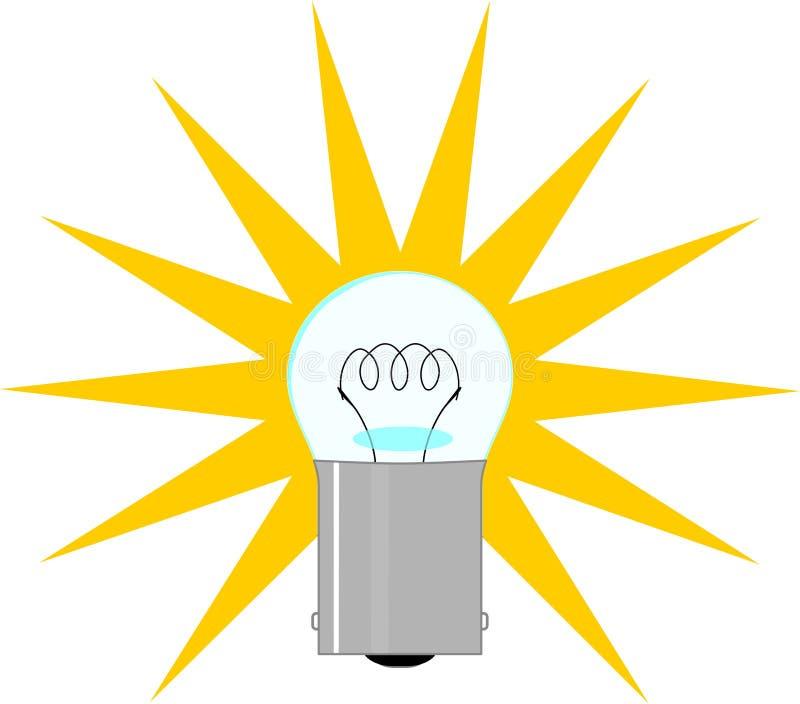 Light bulb illustration royalty free stock image