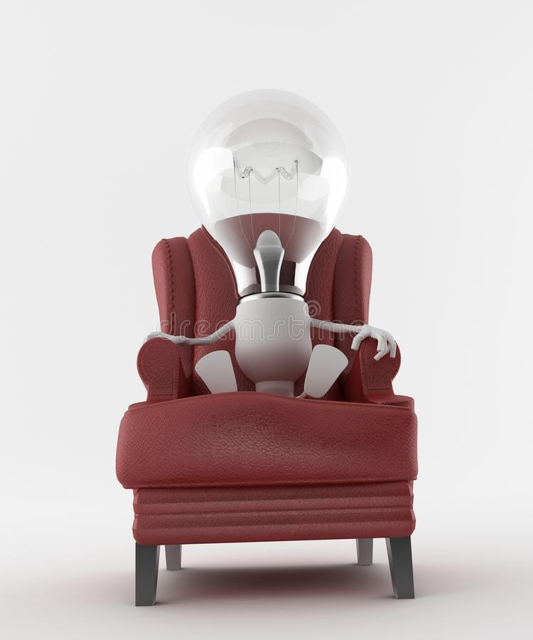 Free Light Bulb In Arm Chair Stock Photography - 23731502